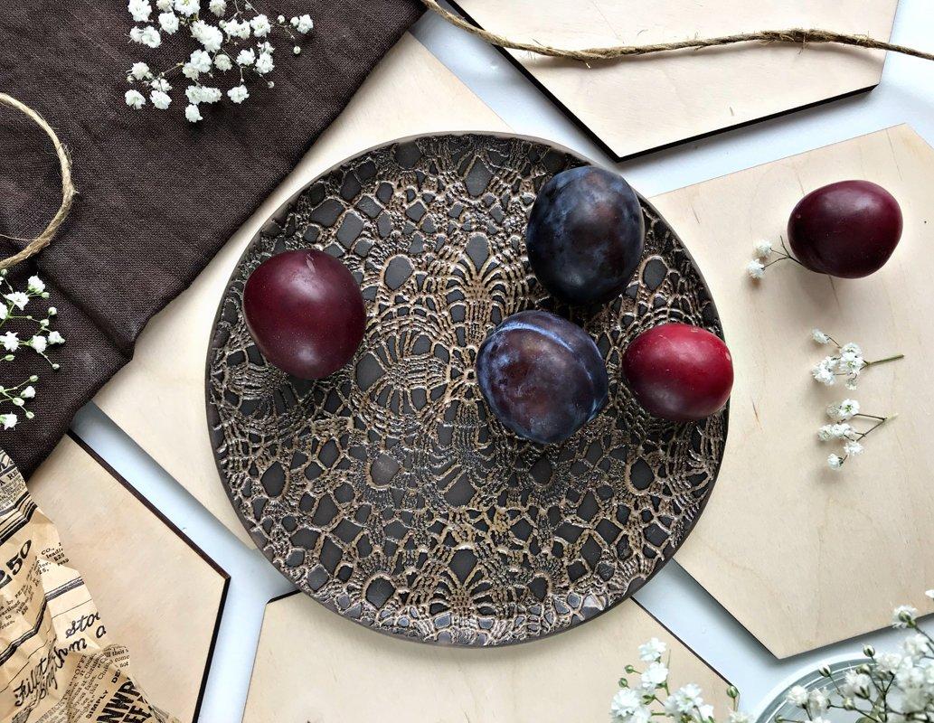 Тарелки ''Шоколадное кружево''