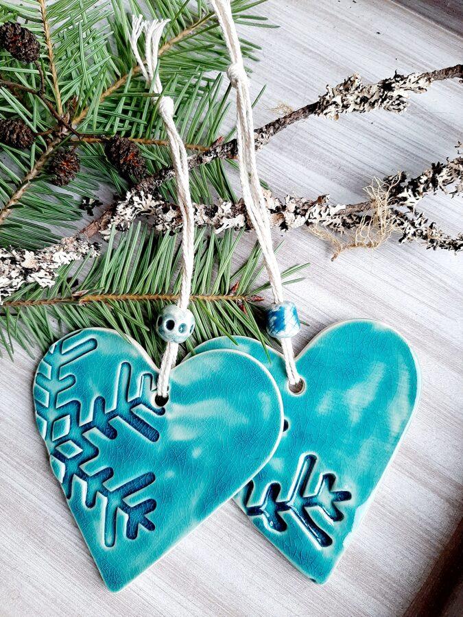 "Hearts decors ""Ice snowflake"""