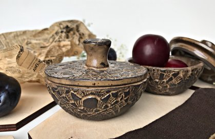 Small bowls ''Chocolate lace''