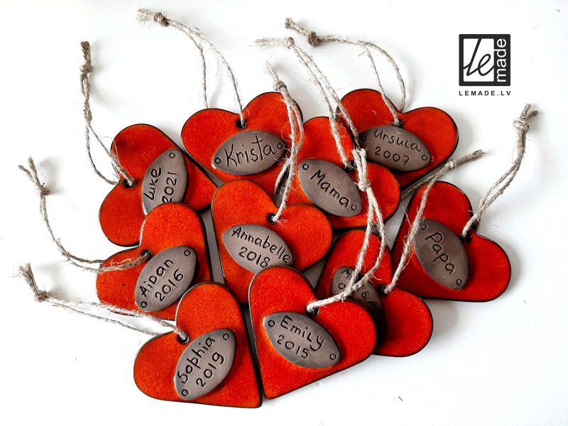 """Personalizētie sirds dekori """"Ziemas mīlestība"""""""