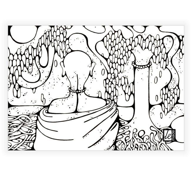 """""""Dzīvības koks"""" fotokopija uz kanvas"""